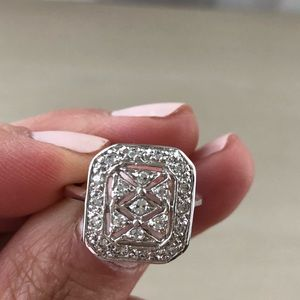 Jewelry - Brand new cz pave cocktail ring